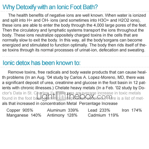 Dual Ionic Detox Foot Bath Spa Cleanse Ionic Foot Bath