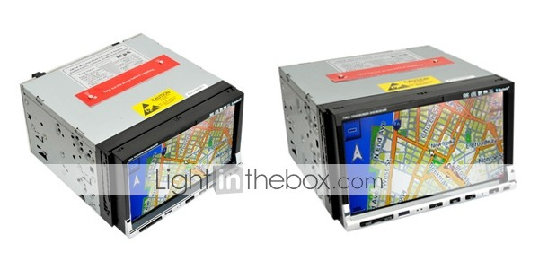 Gratuitement Carte-7 pouces 2 din in-dash car dvd player support de l'iPod intgr dans le systme GPS ak deux zones 7002i cadeau gratuit