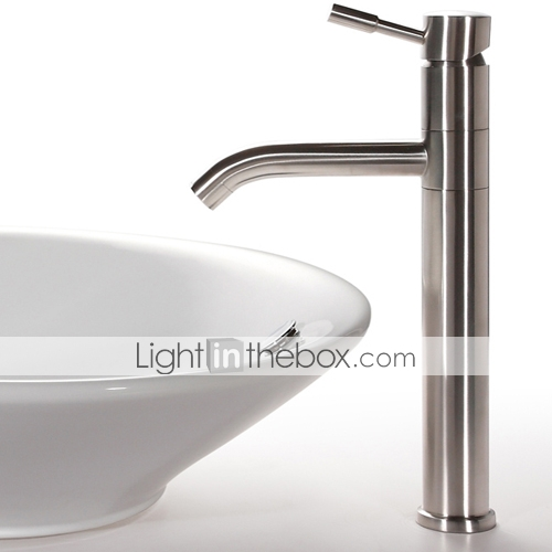 Single Lever Chrome Centerset Sink Faucet (LD-1511)