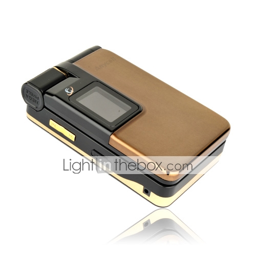 SCH-W579+ Dual Card Bluetooth Flip FM GSM+CDMA Cell Phone Brown