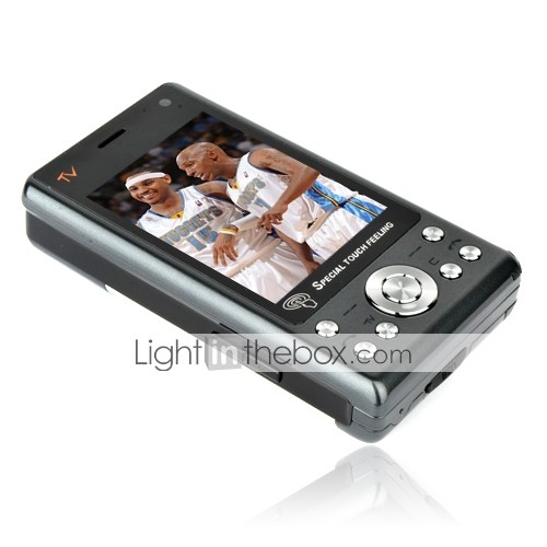 E98 PDA Dual Card Quad Band Dual Camera TV Function QWERTY Keyboard Flat Touch Screen Cell Phone Gray and Silver