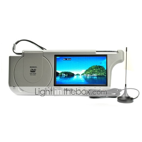 7-inch Sun Visor Car DVD Player with USB & SD and TV function