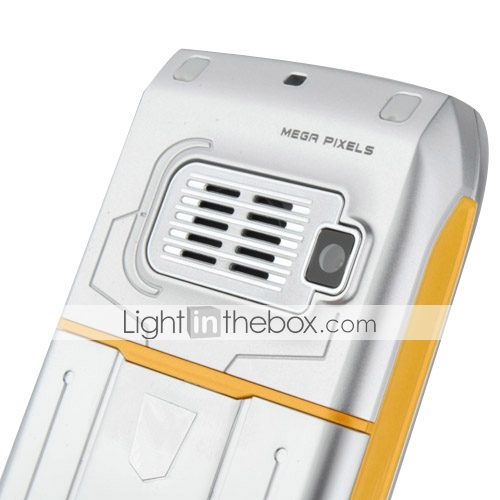 E78 Quad Band Dual Card Bluetooth FM Music Cell Phone Yellow and Silver (2GB TF Card)(SZ05150329)
