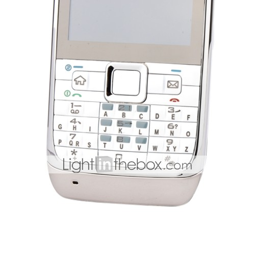 E71 Style Quad Band Dual Card Bluetooth Cell Phone White (2GB TF Card)(SZSH071)