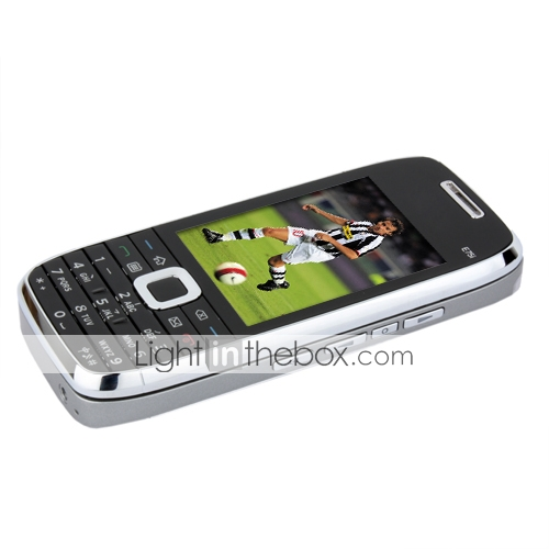 E75i Style Quad Band Dual Card Dual Standby Slide Cell Phone Black and Gray (2GB TF Card)
