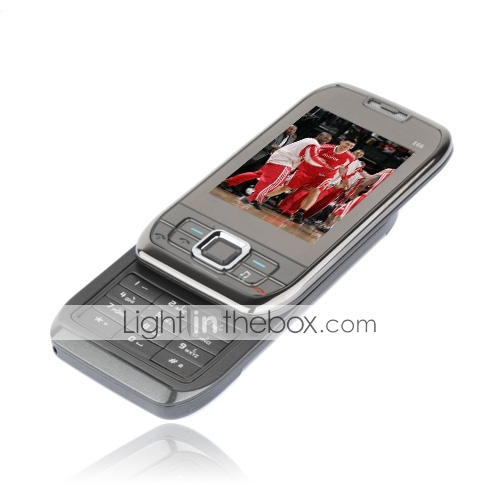 E66 Tri Band Dual Card Bluetooth Slide FM Music Cell Phone Gray (2GB TF Card)