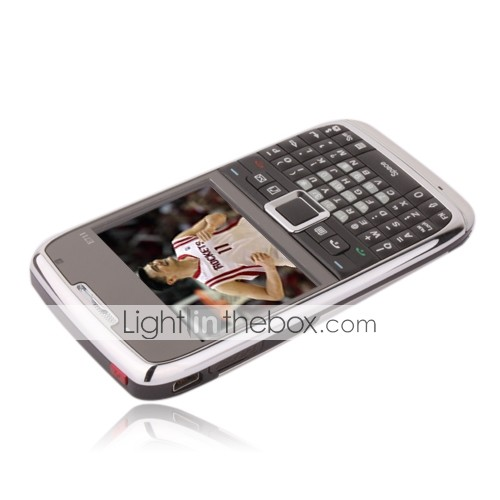 PRO E71 Style Dual Card Quad Band TV WIFI JAVA QWERTY Keypad Cell Phone Silver (Start From 3 Units)