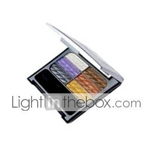 6 colores cosméticos mini ultra brillo paleta de maquillaje de Eye Shadow 6 # (tslr0909-016)