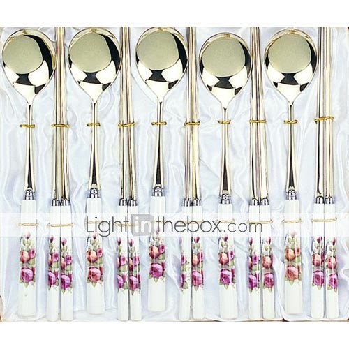 5-pc Luxury Ceramic Handle Kitchen Tableware set (0612-TA-24)