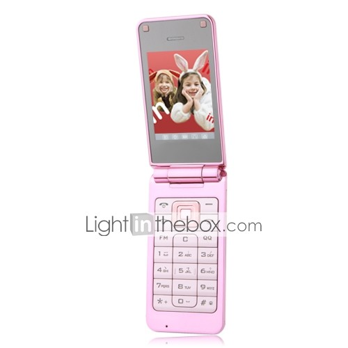 E168 Dual-Karte Dual-Standby-Dual-Band ultradnnen Flip-Handy pink (2GB Karte tf) (sz05450268)