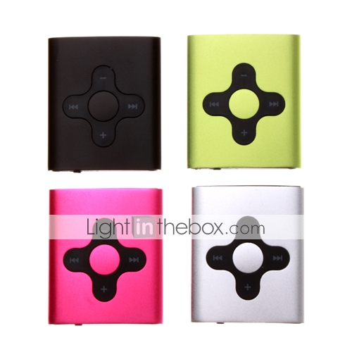1GB Fashion Design MP3 Player With Clip 4 Color/ 4 PCS Per Package(SZM957)