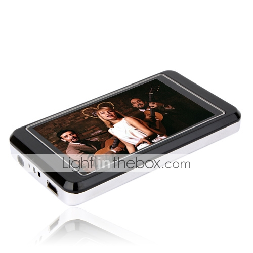 2GB 3.0 polegadas MP4/MP3 player cinza e branco (szm760)