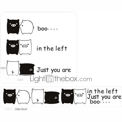 Smart Stickers of kit pig, black, white, boo(CEG50095)