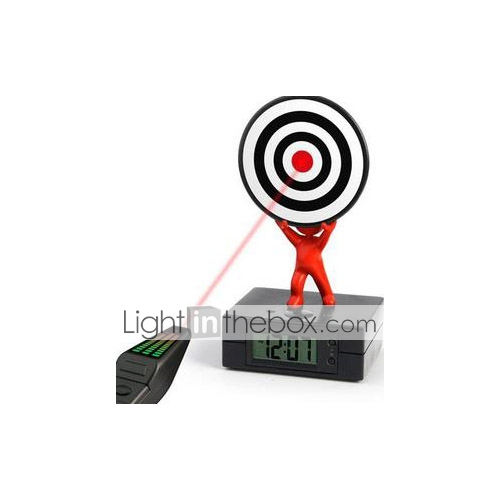 Laser Gun Target Alarm Clock Gadget Fun (CEG50163)