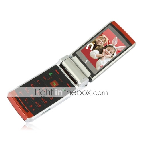 v10 Dual-Karte Dual-Standby-Quad-Band Metallabdeckung ultradünne Touch-Screen Flip-Handy rot (2GB Karte tf) (sz05450350)