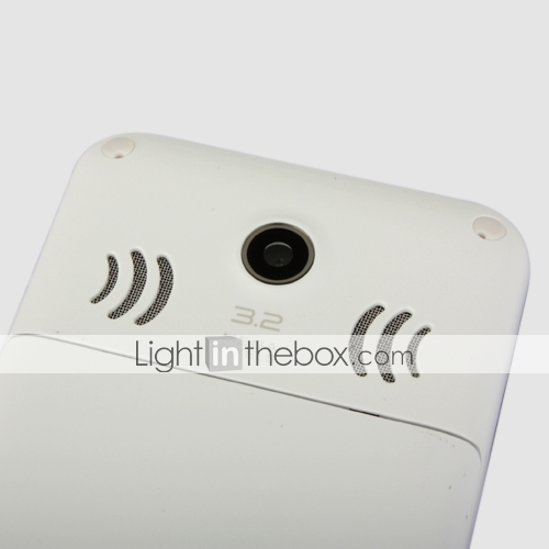 X1 Dual Card Dual Standby Quad Band Ultra Thin Touch Screen Cell Phone White (2GB TF Card)(SZ05450362)
