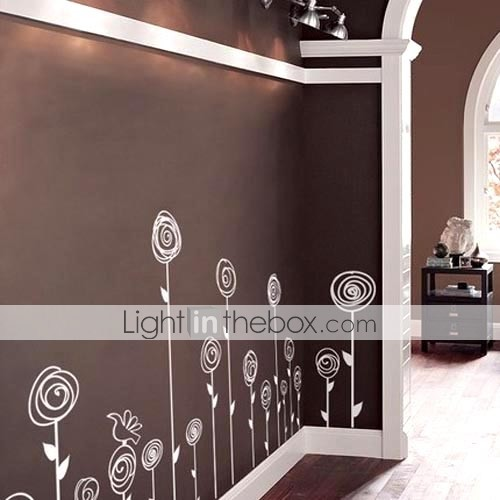 Stylish Flower Wall Sticker (0732 -XM-JJ-108)