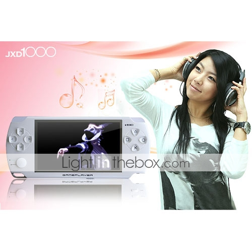 marca JXD 8gb 4,3 polegadas game design de moda mp5/mp3 player com câmera digital (jxd1000)