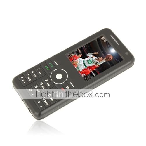 K800 Quad Band Dual Card Bluetooth Dual Camera FM TV Cell Phone Black (2GB TF Card)