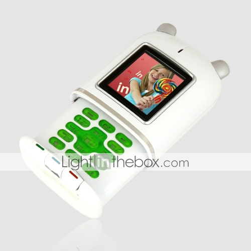 Chuangku X1 Quad Band Dual Card Bluetooth FM Slide Cell Phone White (2GB TF Card)(SZ05150596)