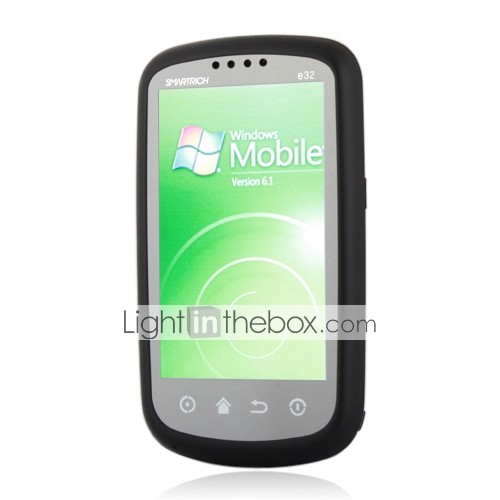 U6 Windows Mobile 6.1 gps wifi java quad-band bluetooth flat touch screen slimme mobiele telefoon zwart (2GB TF-kaart)