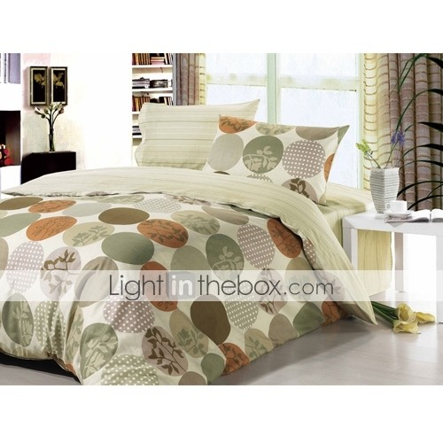 4-pc Queen Size Love Lucerne Printing Cotton Full Size Duvet Cover Set - Free Shipping (0580-9S707011S)