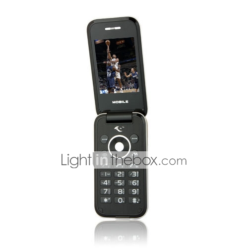 ZTC-F1 Dual Card Bluetooth Ultra Thin Flip FM Cell Phone Silver (2GB TF Card)