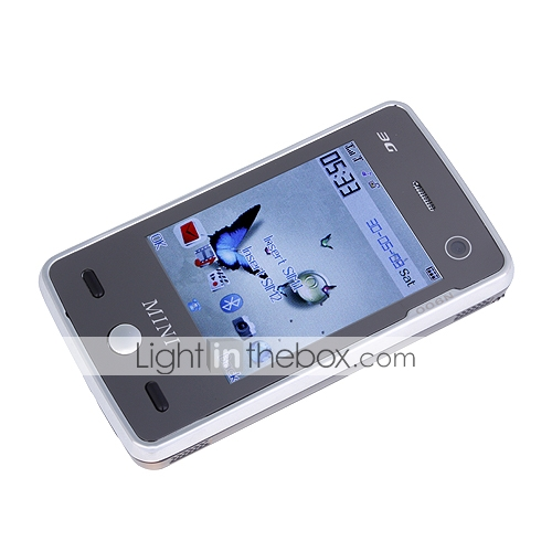 N900 Dual Card Dual Camera Quad Band FM Bluetooth Flat Touch Screen Cell Phone Black (2GB TF Card)
