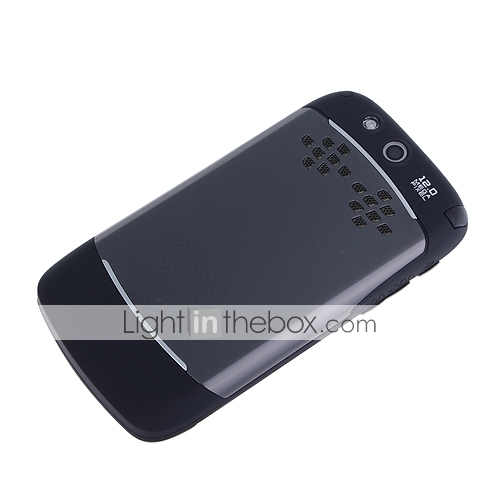 A9000 Quad Band Dual Card TV JAVA Dual Camera Flashlight QWERTY Keypad Trackball Bar Cell Phone Black (2GB TF Card)(SZ05440381)