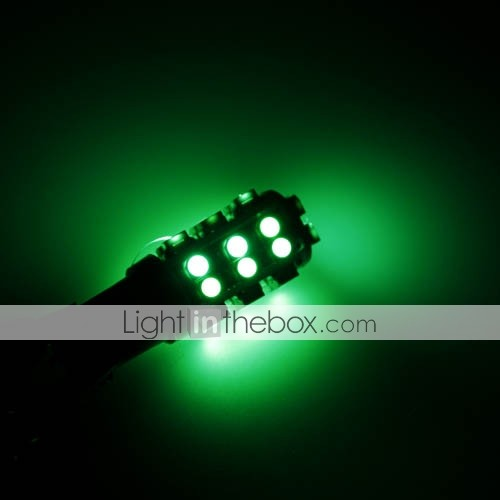27 LED Car Light - Super Bright Bulb - Green - Wide Light - Decorative Lamp - Floodlight T10-1210