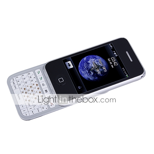D803 Dual Card Quad Band 3.2 Inch Flat Touch Screen with QWERTY Keypad Slide Cell Phone Black and Silver (2GB TF Card)