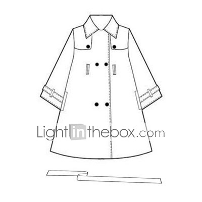 Women Fashion Elegant Cotton Long Sleeve Trench Coat on Button Tab Trench Coat Maternity Wear  0103al005 0497    Us  19 99