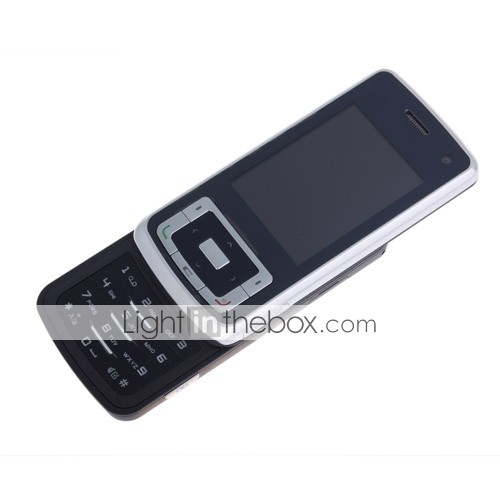 810 JAVA Dual Mode Bluetooth Dual Camera 3G WCDMA Slide Cell Phone Black (2GB TF Card)