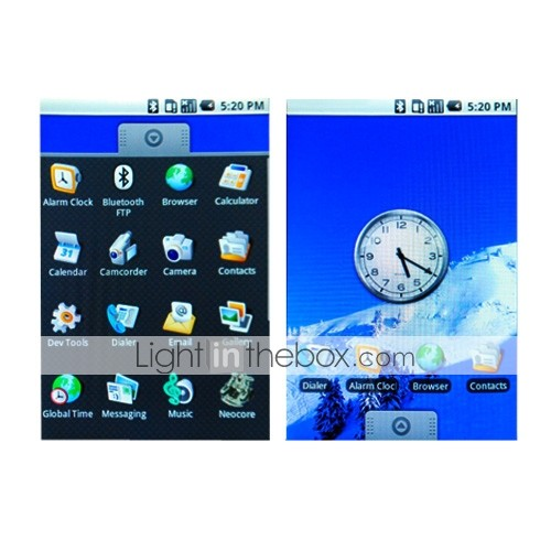 G99 + 3g Google Android 1,6 gps wifi Kompass 3,2-Zoll-Touchscreen-Handy Weiss (2 GB TF-Karte) (sz04581216)