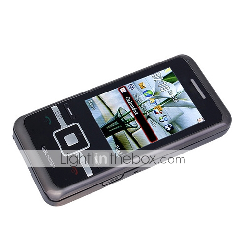 715 dupla do cartão bluetooth fm touch screen celular slide (cartão de 2GB TF) (sz05150897)