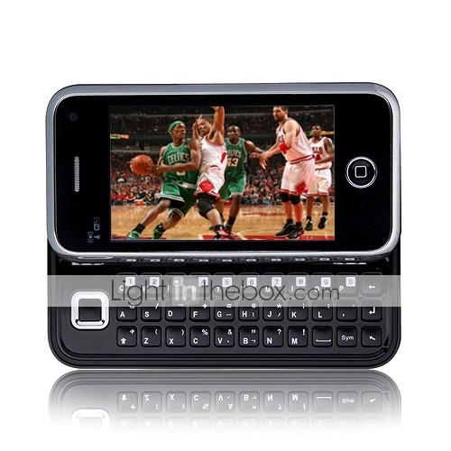 yphone i68 + WiFi TV java Quad-Band Dual-SIM-Karte Dual-Kamera QWERTY-Tastatur 3.2 Zoll Touch-Screen-Handy schwarz