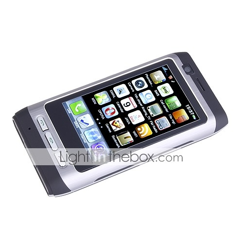 E79TV Dual Card Quad Band Dual Camera Flashlight TV Function JAVA WIFI Touch Screen Cell Phone Black (2GB TF Card)
