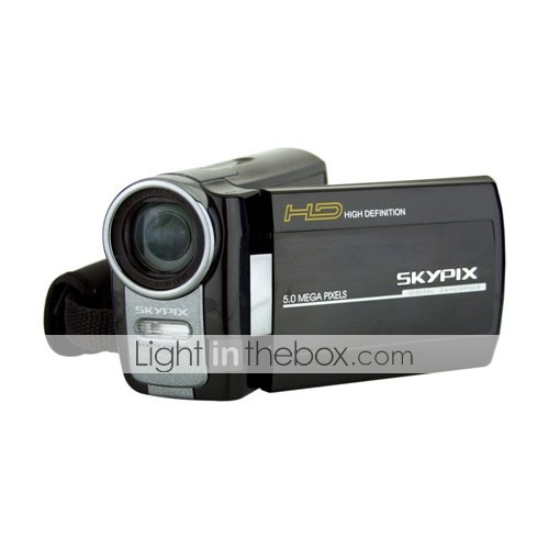 Skypix HDV-5F5 HD 1440X1080p Digital Video Camcorder 5.0MP Camera with 3.0-inch LTPS Color LCD (DCE172)