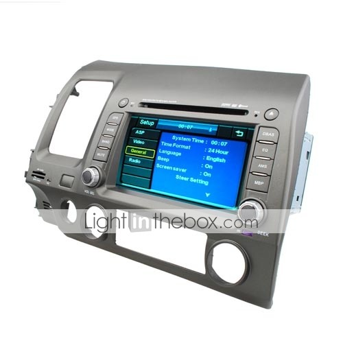 7 inch 2 Din Car DVD Player For 2008-2009 Honda Civic With Bluetooth-GPS