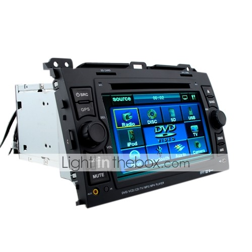 7 Inch Car In-dash DVD Player For 2008-2009 Toyota Bossy With Bluetooth - GPS - FM - AM - RDS - TV