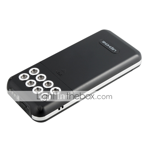 a5 quad doble tarjeta bluetooth fm banda pantalla tctil telfono celular antorcha negro (tarjeta de 2GB TF) (sz04581275)