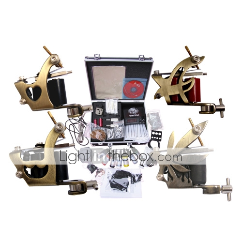 kit profesional de la mquina del tatuaje conjunto completo con 4 pistolas tatuaje (035902.07a007)