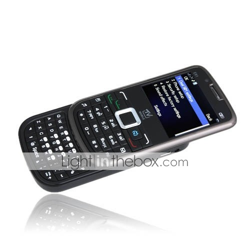E91 Unlocked Dual Card Dual Camera WIFI TV Dual QWERTY Cell Phone Black (2GB TF Card)