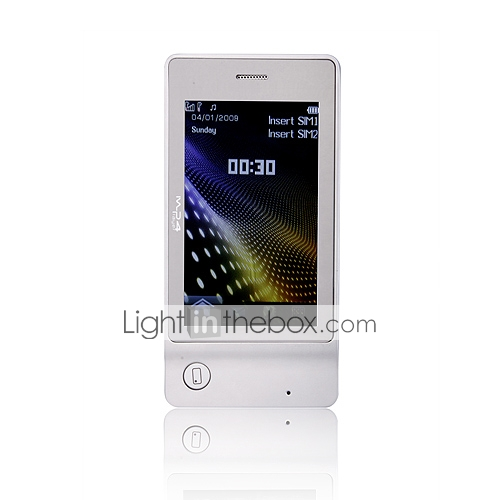 K700 Dual Card Quad Band JAVA PAD Ultra Thin 3.0 Inch Flat Touch Screen Cell Phone (2GB TF Card)