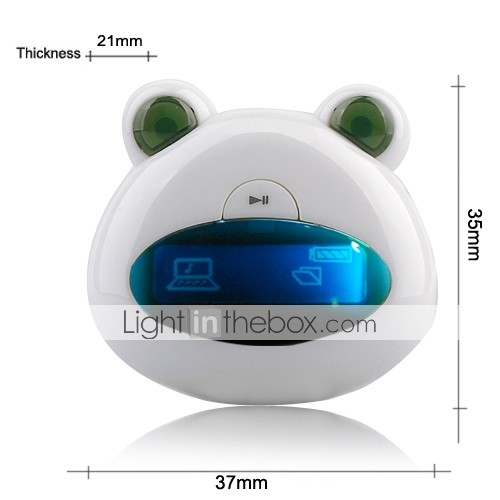 4GB Mini Bear Cartoon Style OLED MP3 Player(HF106)
