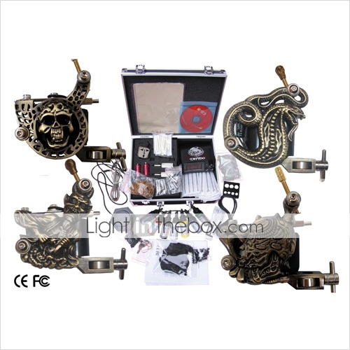 professionnelle kit machine à tatouer jeu complet avec 4 machines à tatouer (035903.17c057)
