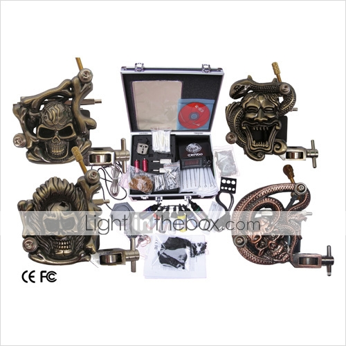 professionnelle kit machine à tatouer jeu complet avec 4 machines à tatouer (035903.17c054)