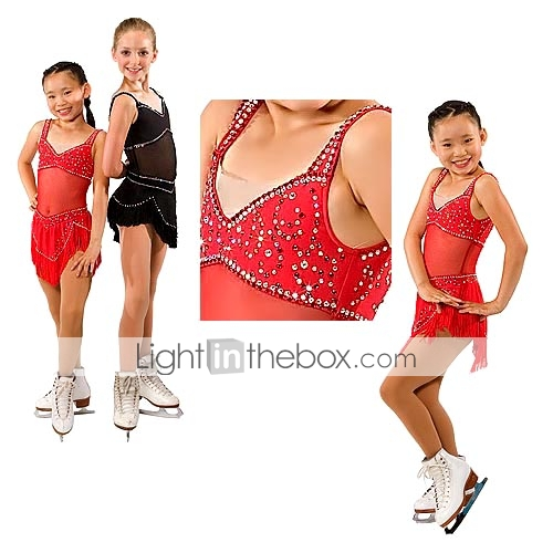 Scoop Neck Arresting Ice Skating Dress with Striking Sequin Sleeveless