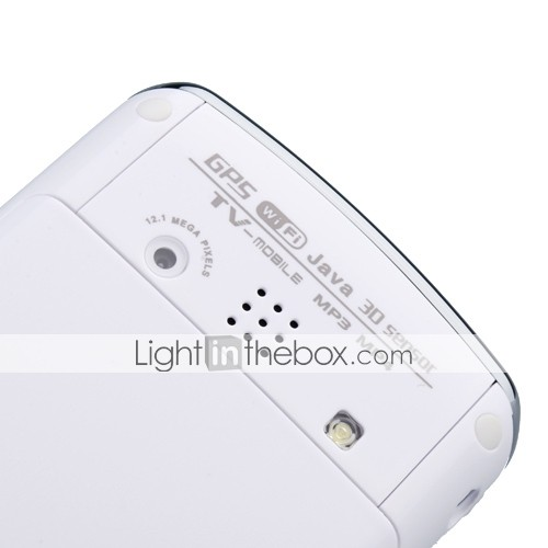 F035 - Dual SIM 3.2 Inch Touch Screen Cell Phone White (Dual Camera GPS WIFI JAVA TV)