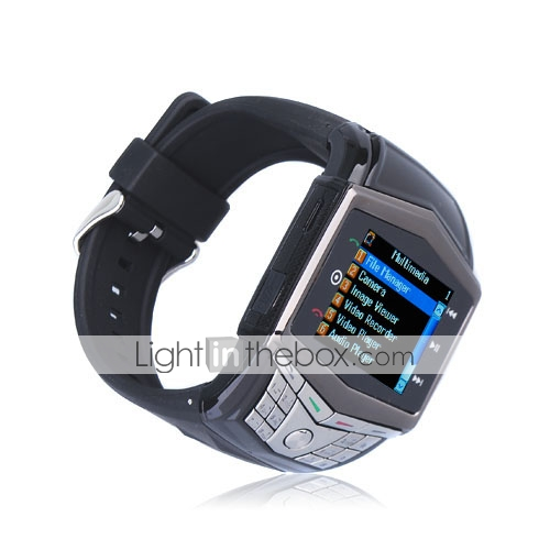 GD910 ultra sottile quad band bluetooth mp3 / mp4 orologio da polso con telefono cellulare tastiera (2GB TF card) (sz05430046)